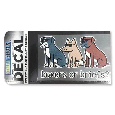 Boxers or Briefs Decal - Teddy the Dog T-Shirts and Gifts