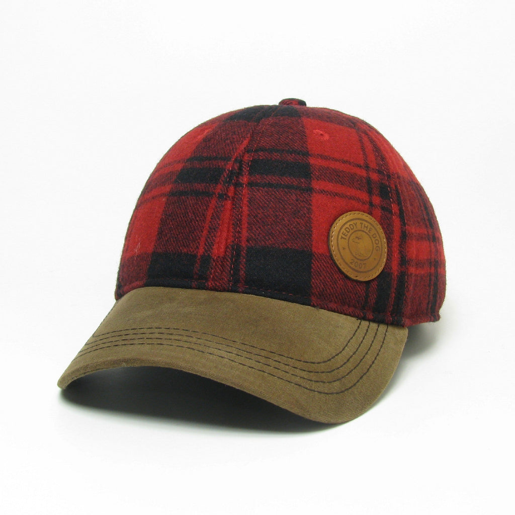 Teddy's Buffalo Plaid Flannel Hat
