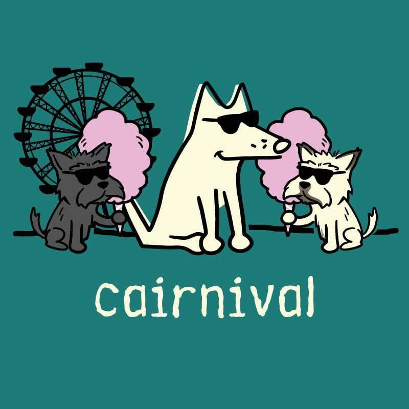 Cairnival - Ladies T-Shirt V-Neck - Teddy the Dog T-Shirts and Gifts
