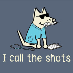 I Call the Shots T-Shirt - Classic Garment Dyed - Teddy the Dog T-Shirts and Gifts