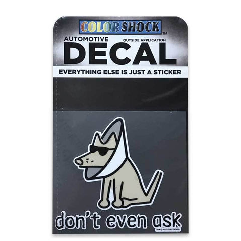 Don't Even Ask Decal - Teddy the Dog T-Shirts and Gifts