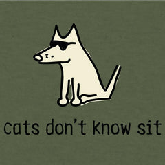 Cats Don't Know Sit - T-Shirt Lightweight Blend - Teddy the Dog T-Shirts and Gifts