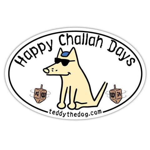 Happy Challah Days - Car Magnet