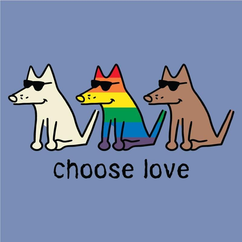 Choose Love T-Shirt - Kids - Teddy the Dog T-Shirts and Gifts