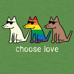 Choose Love - T-Shirt Lightweight Blend - Teddy the Dog T-Shirts and Gifts