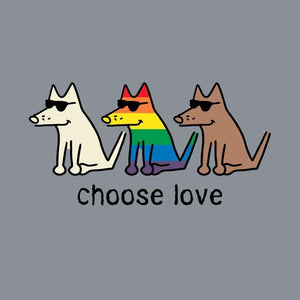 Choose Love - Crew Neck Sweatshirt - Teddy the Dog T-Shirts and Gifts
