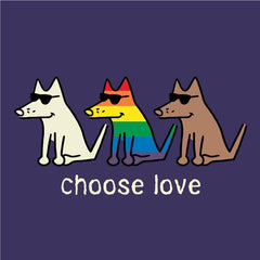 Choose Love Canvas Tote | Teddy the Dog Apparel - Teddy the Dog T-Shirts and Gifts
