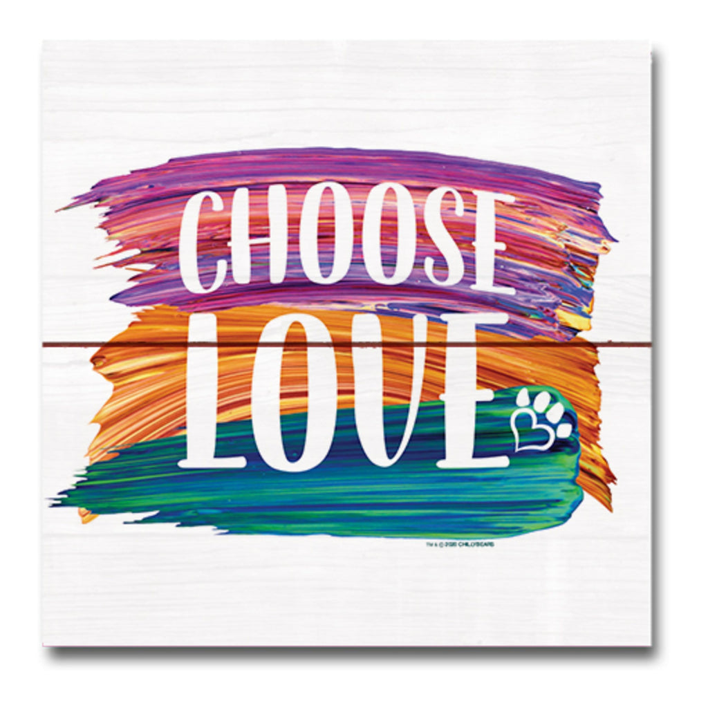 Choose Love Brush - Wooden Magnet