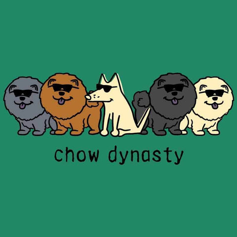 Chow Dynasty - Ladies T-Shirt V-Neck - Teddy the Dog T-Shirts and Gifts