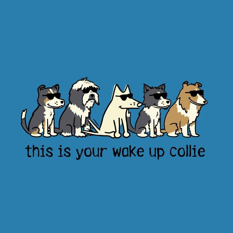 This Is Your Wake Up Collie - Ladies T-Shirt V-Neck