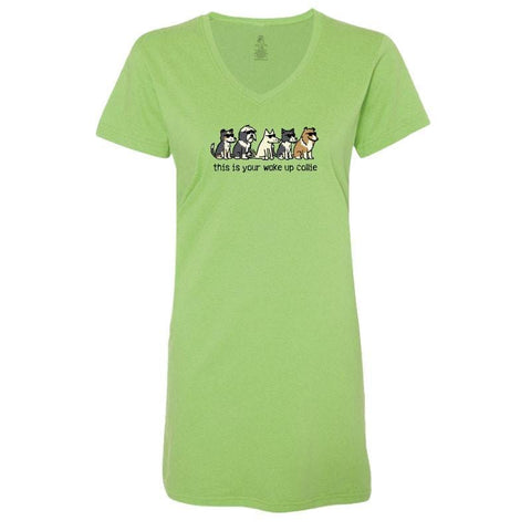 This Is Your Wake Up Collie - Ladies Night T-Shirt