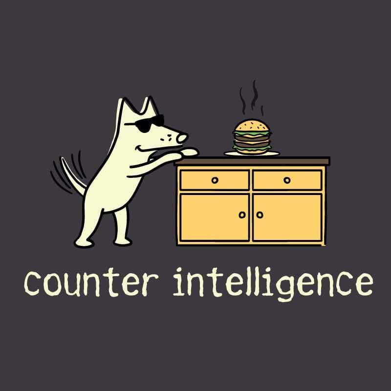 Counter Intelligence - Lightweight Tee - Teddy the Dog T-Shirts and Gifts