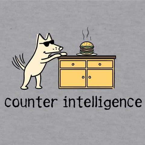 Counter Intelligence - Baseball T-Shirt - Teddy the Dog T-Shirts and Gifts