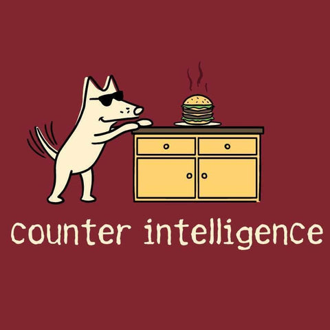 Counter Intelligence - Ladies T-Shirt V-Neck - Teddy the Dog T-Shirts and Gifts