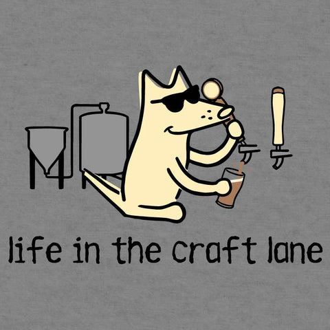 Life In The Craft Lane - Ladies Curvy V-Neck Tee