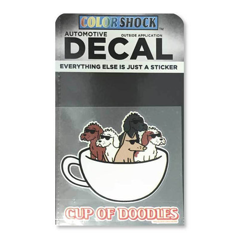 Cup Of Doodles Decal - Teddy the Dog T-Shirts and Gifts
