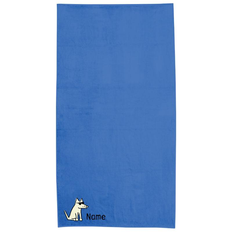 Caribbean Blue Plush Oversized Beach Towel