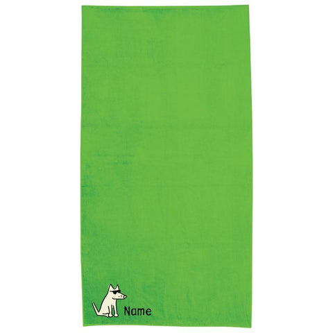 Lime Green Plush Oversized Beach Towel