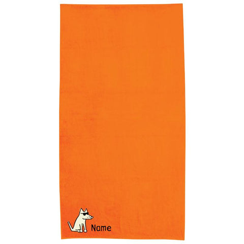 Orange Plush Oversized Beach Towel