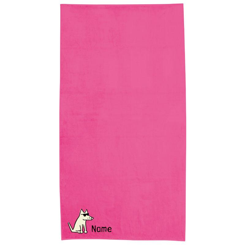 Hot Pink Plush Oversized Beach Towel