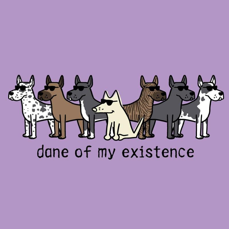 Dane Of My Existence - Ladies T-Shirt V-Neck - Teddy the Dog T-Shirts and Gifts