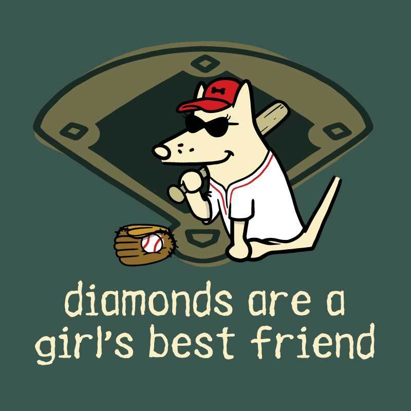 Diamonds Are A Girl's Best Friend - Classic Tee - Teddy the Dog T-Shirts and Gifts
