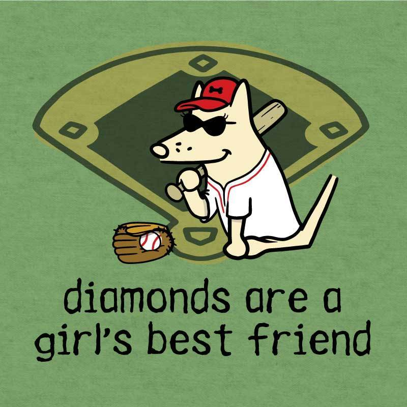 Diamonds Are A Girl's Best Friend - Lightweight Tee - Teddy the Dog T-Shirts and Gifts