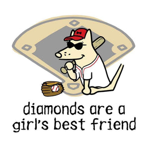 Diamonds Are A Girl's Best Friend - Coffee Mug - Teddy the Dog T-Shirts and Gifts