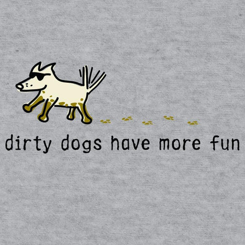 dirty dogs have more fun youth baseball t-shirt