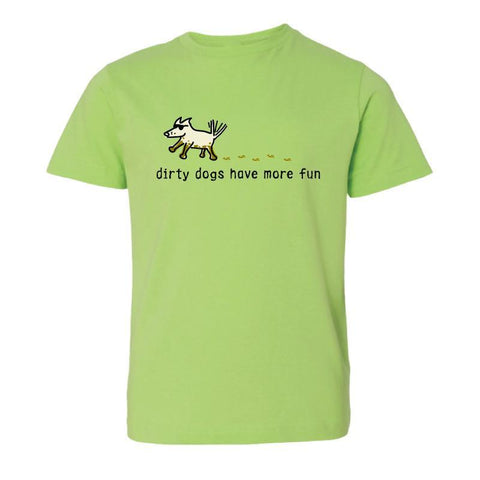 Dirty Dogs Have More Fun T-Shirt - Kids - Teddy the Dog T-Shirts and Gifts