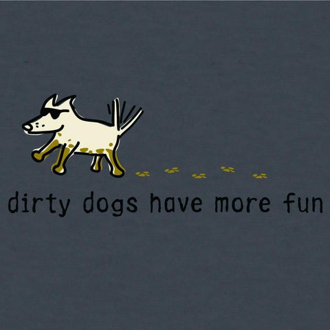 dirty dogs have more fun lightweight t-shirt