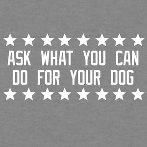Ask Not What Your Dog Can Do For You - Ladies Curvy V-Neck Tee