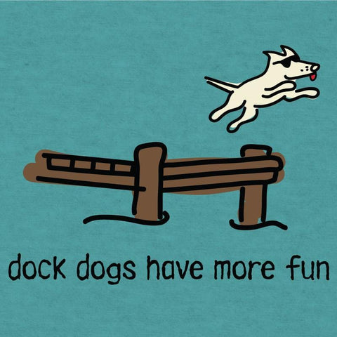 dock dogs have more fun lightweight t-shirt