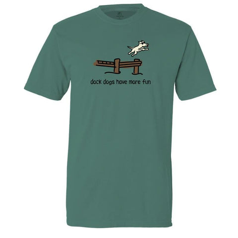 dock dogs have more fun garment dyed classic t-shirt