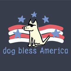Dog Bless America T-Shirt - Classic - Teddy the Dog T-Shirts and Gifts