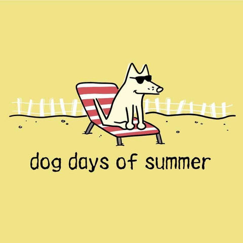 Dog Days of Summer - Ladies Racer Back Tank Top - Teddy the Dog T-Shirts and Gifts