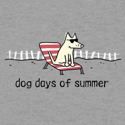 Dog Days of Summer - Ladies T-Shirt Crew Neck - Teddy the Dog T-Shirts and Gifts