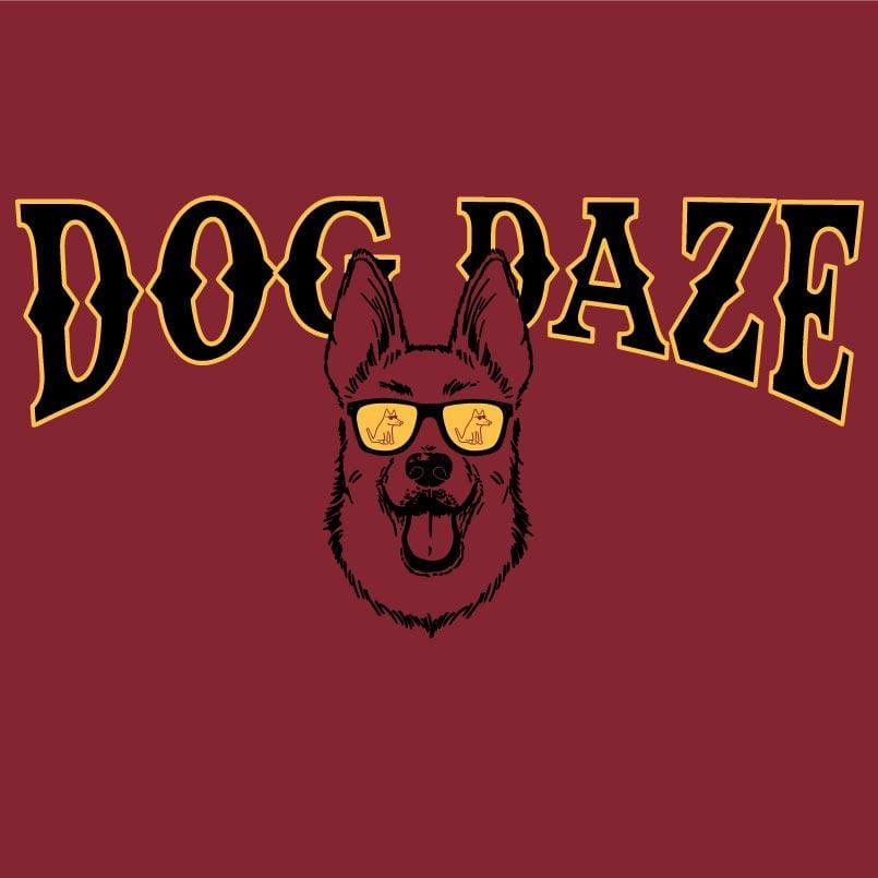 Dog Daze - German Shepherd - Ladies T-Shirt V-Neck