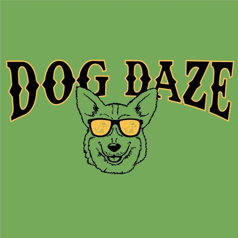 Dog Daze - Corgi - Ladies T-Shirt V-Neck