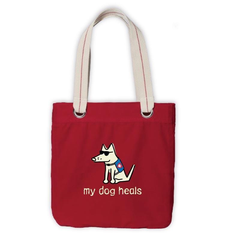 Teddy's My Dog Heals Canvas Tote - Teddy the Dog T-Shirts and Gifts