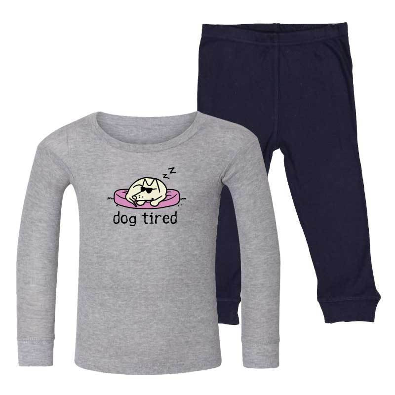 Dog Tired -  Toddler PJ Set - Teddy the Dog T-Shirts and Gifts
