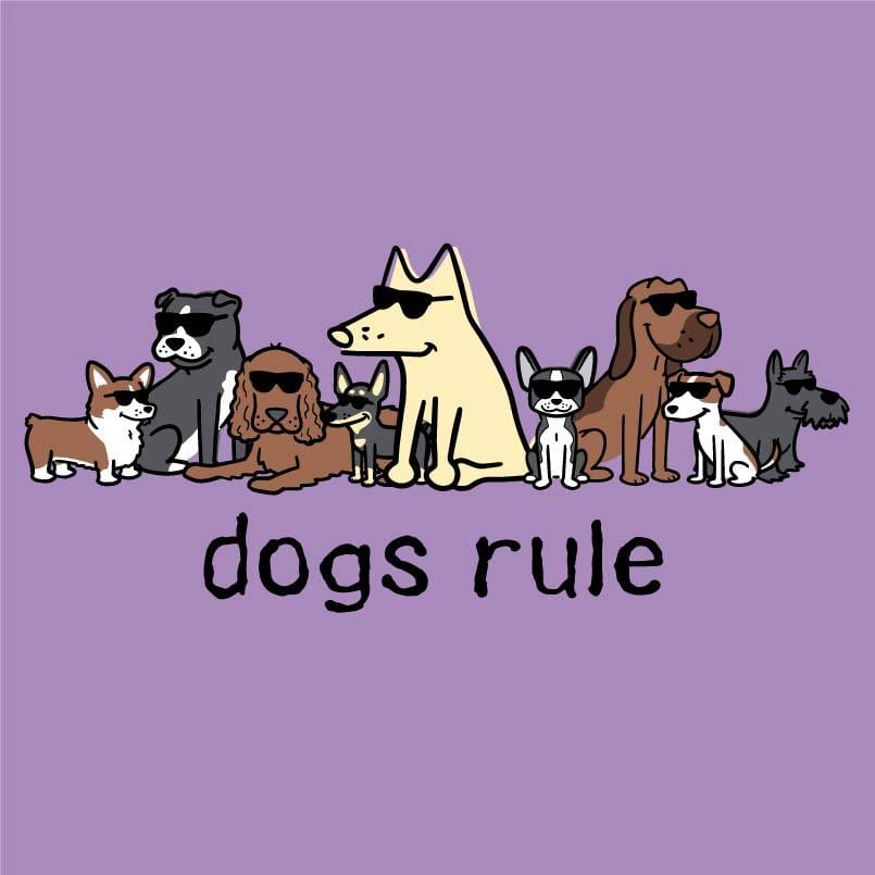 Dogs Rule - Ladies T-Shirt V-Neck