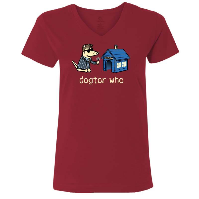 Dogtor Who - Ladies T-Shirt V-Neck