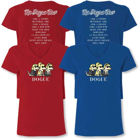 DOGUE  - Ladies T-Shirt V-Neck