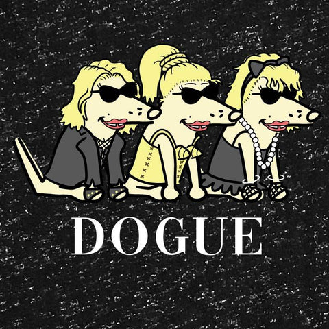 DOGUE - Ladies Silver Glitter Crew Neck Tee