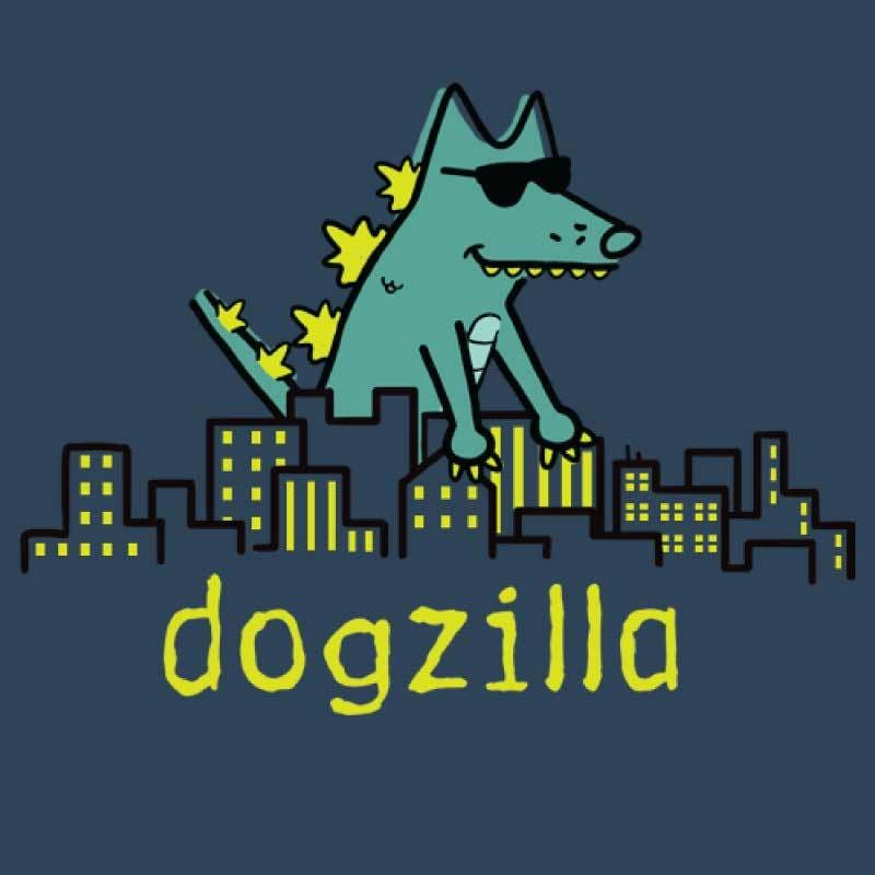 Dogzilla   - Ladies T-Shirt V-Neck