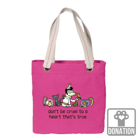 Don't Be Cruel To A Heart That's True - Canvas Tote