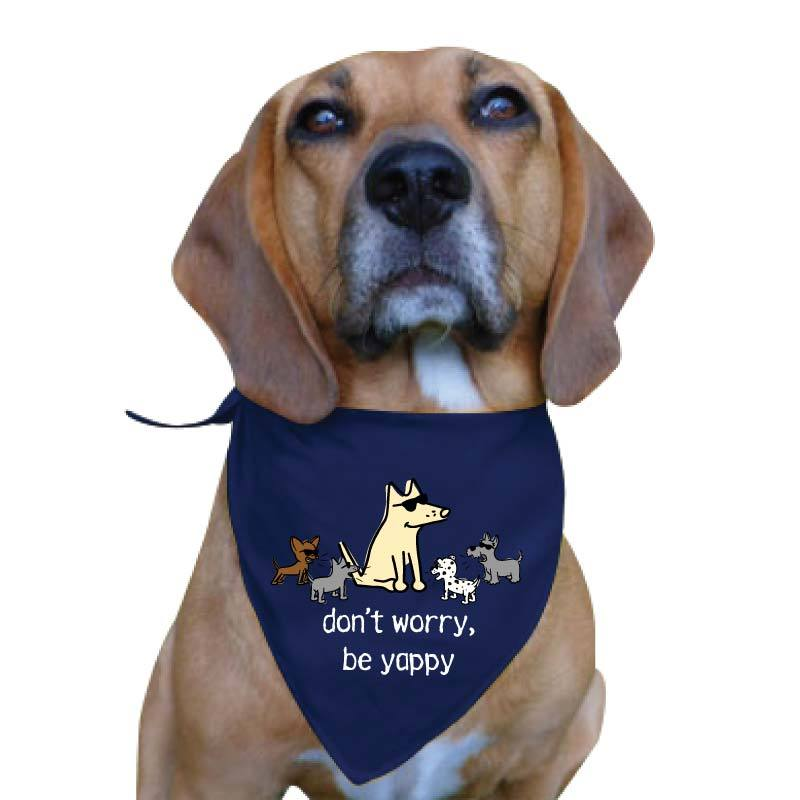 Don't Worry Be Yappy - Doggie Bandana