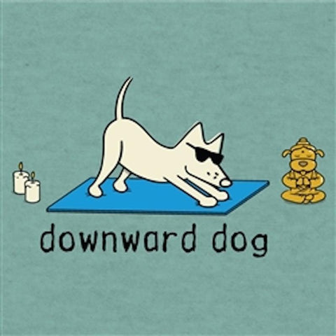 Downward Dog - T-Shirt Lightweight Blend - Teddy the Dog T-Shirts and Gifts