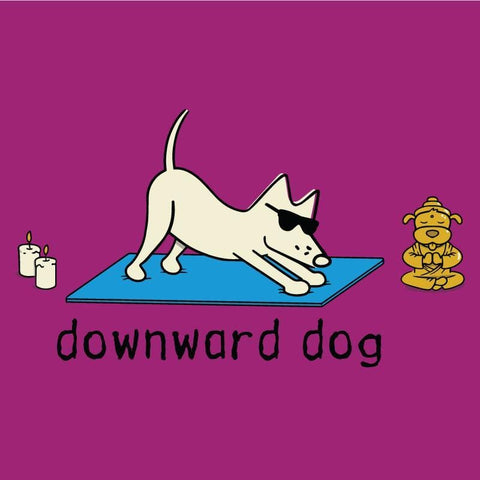 Downward Dog Ladies V-Neck Tee - Teddy the Dog T-Shirts and Gifts